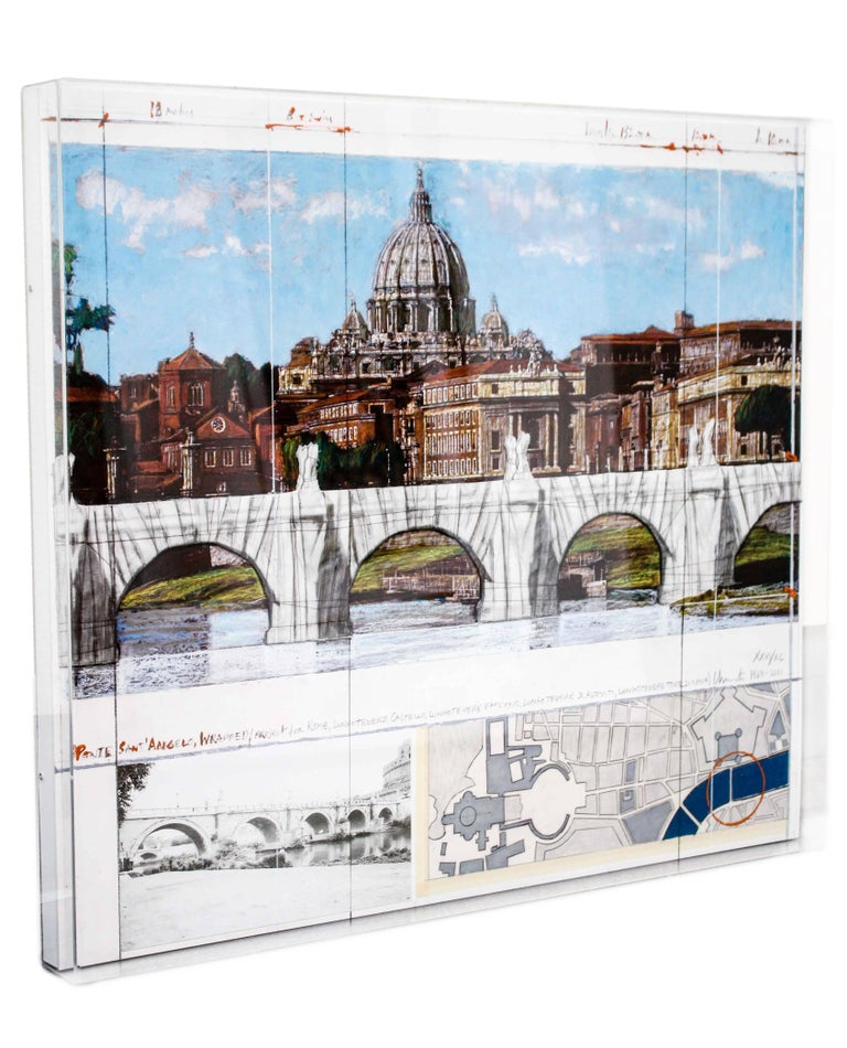 Ponte Sant'Angelo, Wrapped, Project for Rome, 2011, mixed-media  For Sale 8