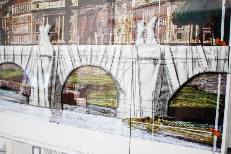 Ponte Sant'Angelo, Wrapped, Project for Rome, 2011, mixed-media  For Sale 11