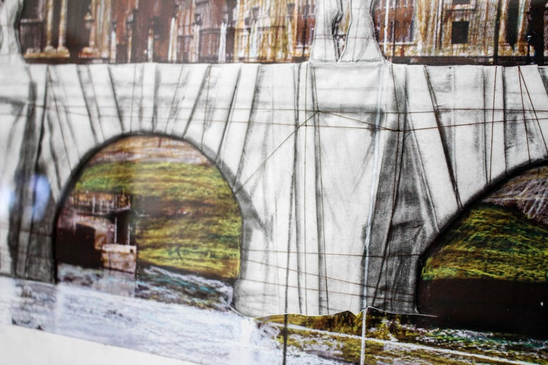 Ponte Sant'Angelo, Wrapped, Project for Rome, 2011, mixed-media  For Sale 14