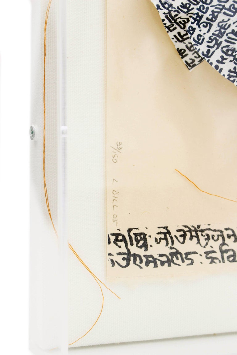 Lesley Dill, Woman with Hindi Healing Dress, 2005 For Sale 1