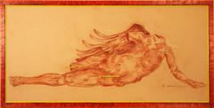 Red Nude Fragment Drawing