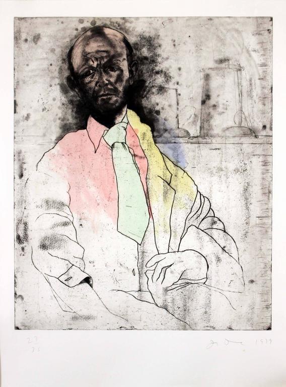 Self Portrait as Die Maker - Print by Jim Dine