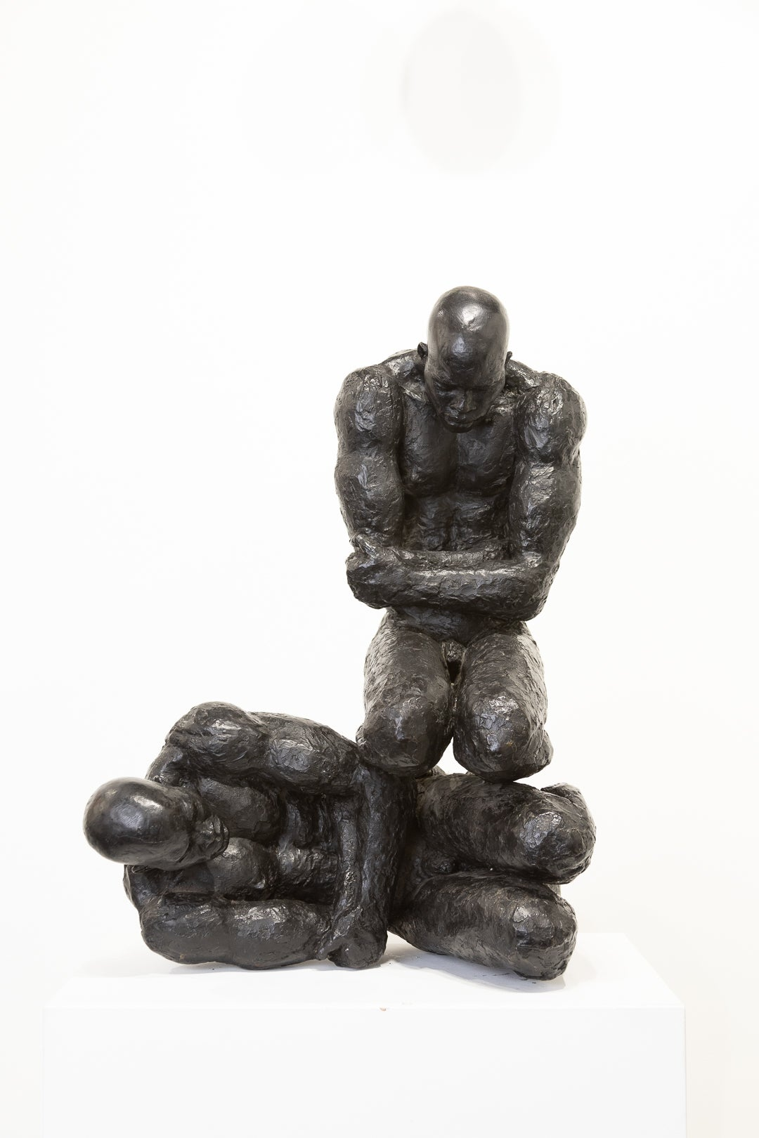 """Rebirth"" Bronze Sculpture with Patina, Figures, Naked, Male"