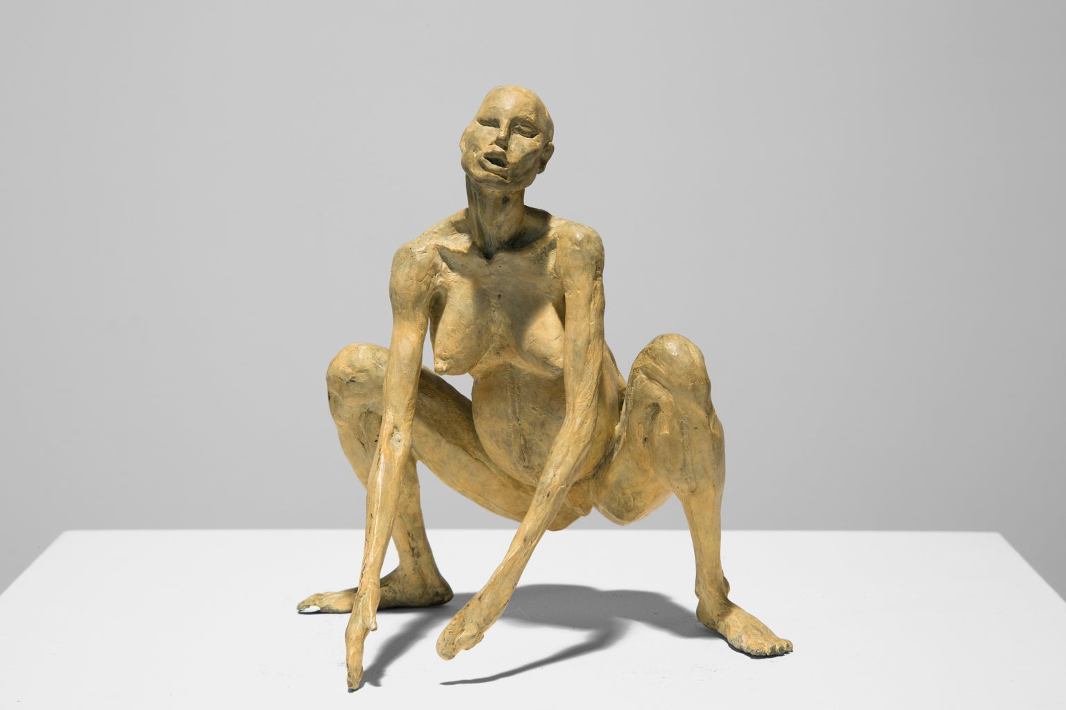 """Birth"" Female, Nude, Figurative, Sculpture, Bronze, Acrylic"