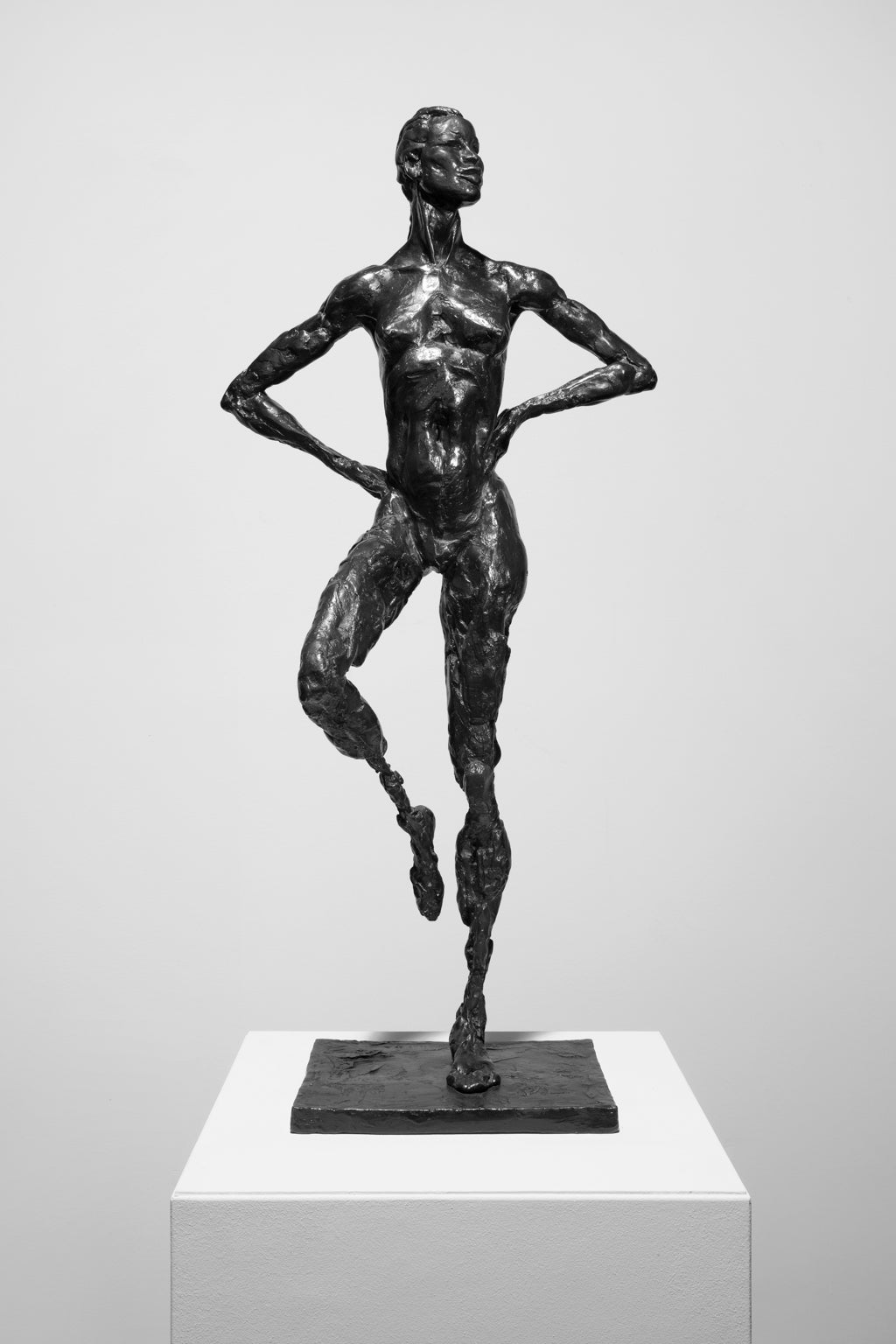 """Woman"" Bronze Sculpture with Patina, Female Nude"