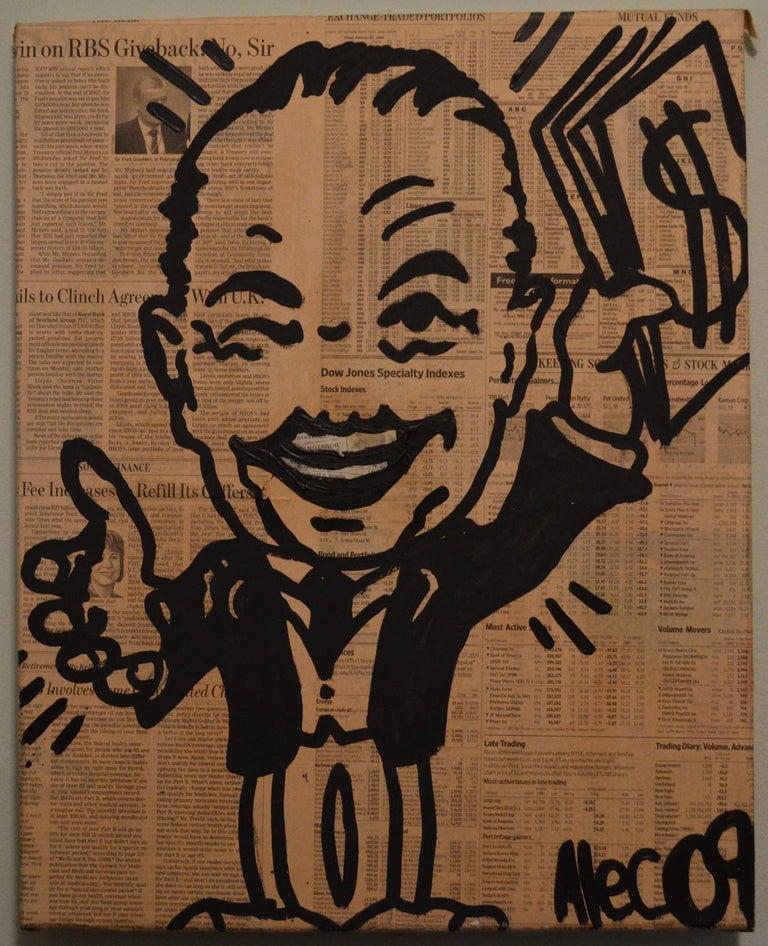 Alec Monopoly Figurative Painting - Monopoly Man