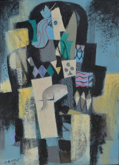 King of Clubs,  Cubist, 1958