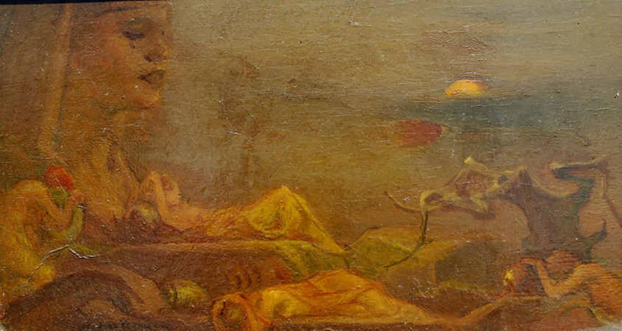"""Jan Frans Deboever Figurative Painting - """"Sirenes"""""""