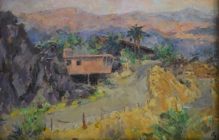 Ron Blumberg Landscape Painting - Palm Springs Road