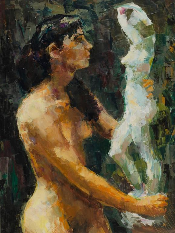 Ron Blumberg Figurative Painting - Two Models