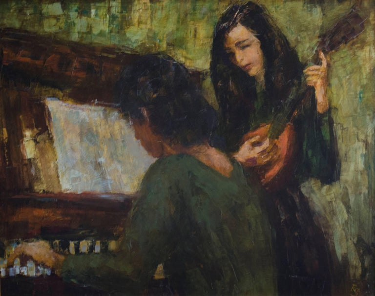 Ron Blumberg Figurative Painting - The Practice Session