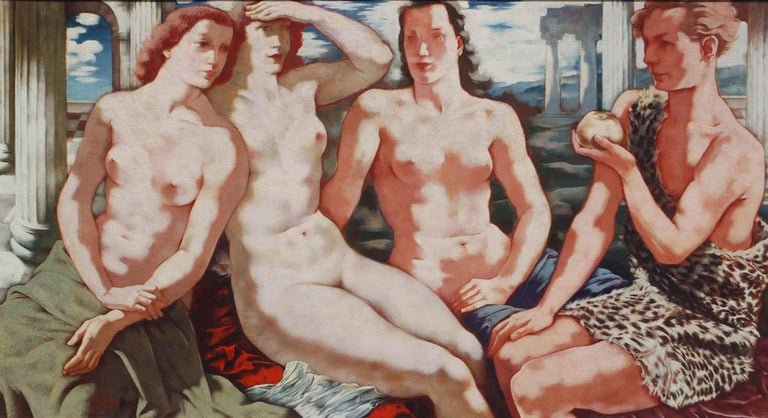 Hans Orlowski Figurative Painting - The Judgement of Paris