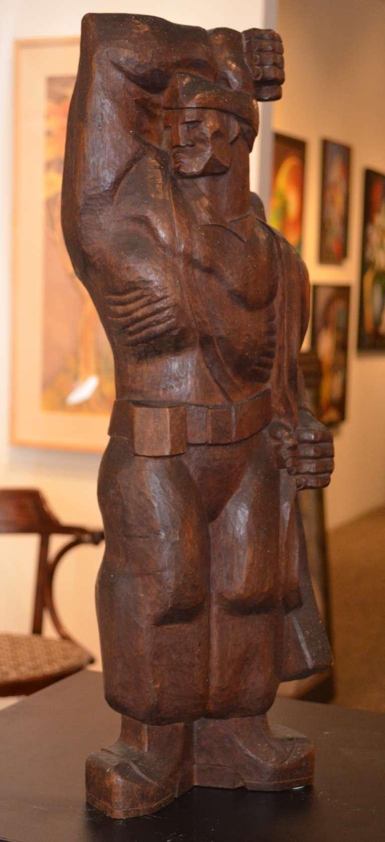 Burton Freund Figurative Sculpture - The Partisan