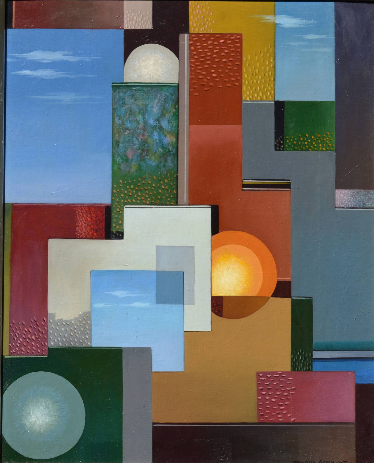 Maurice Green Still-Life Painting - Elevated Dimensions
