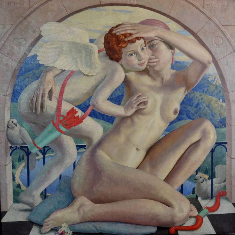 Ernest Procter Nude Painting - The Mischievous Boy