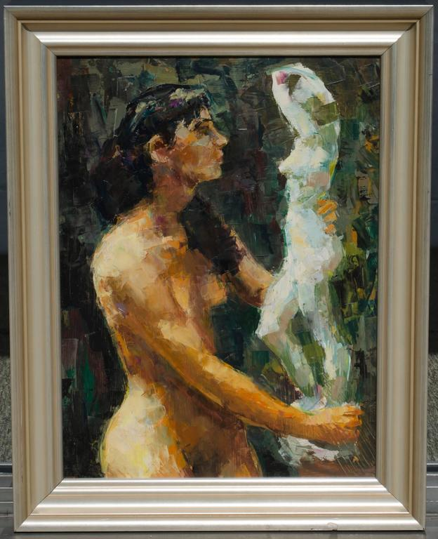Two Models - Painting by Ron Blumberg