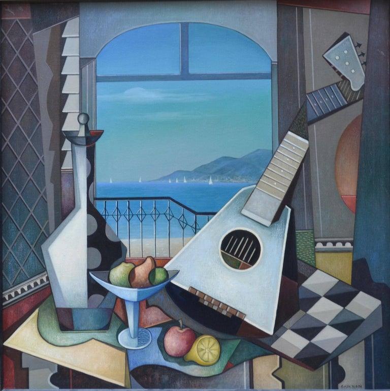 Maurice Green Interior Painting - Blue Pacific Mandolin