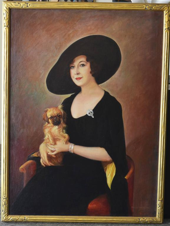 The Sophisticate - Art Deco Painting by Alexander Rosenfeld