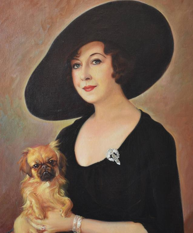 The Sophisticate - Painting by Alexander Rosenfeld