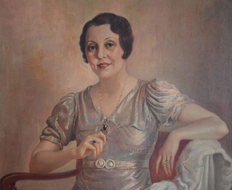 Elegance - Art Deco Painting by Alexander Rosenfeld