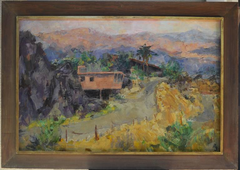 Palm Springs Road - Painting by Ron Blumberg