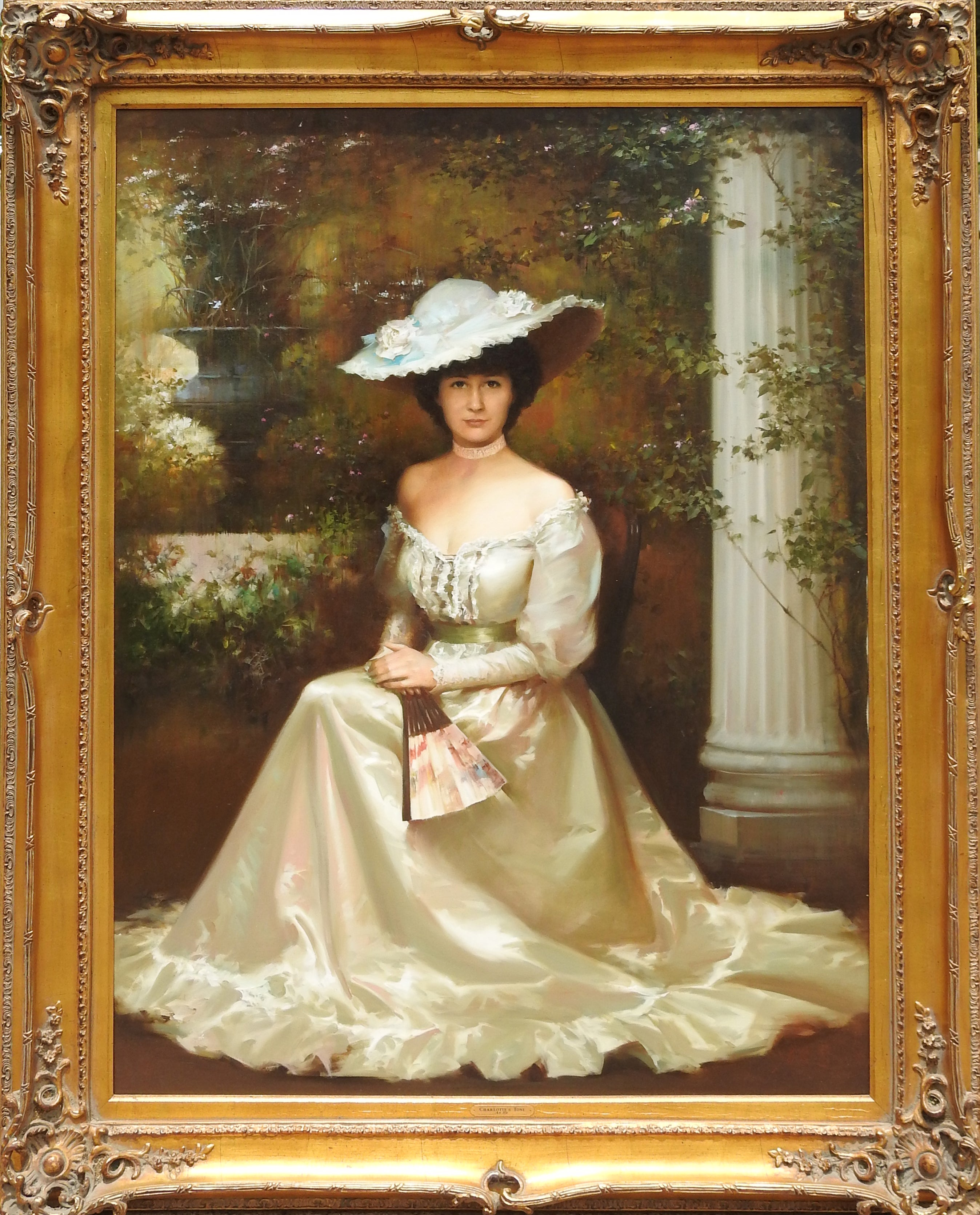 """Charlotte's Toni"", An He, Realistic Portrait, Original Oil on Canvas, 48x36 in."