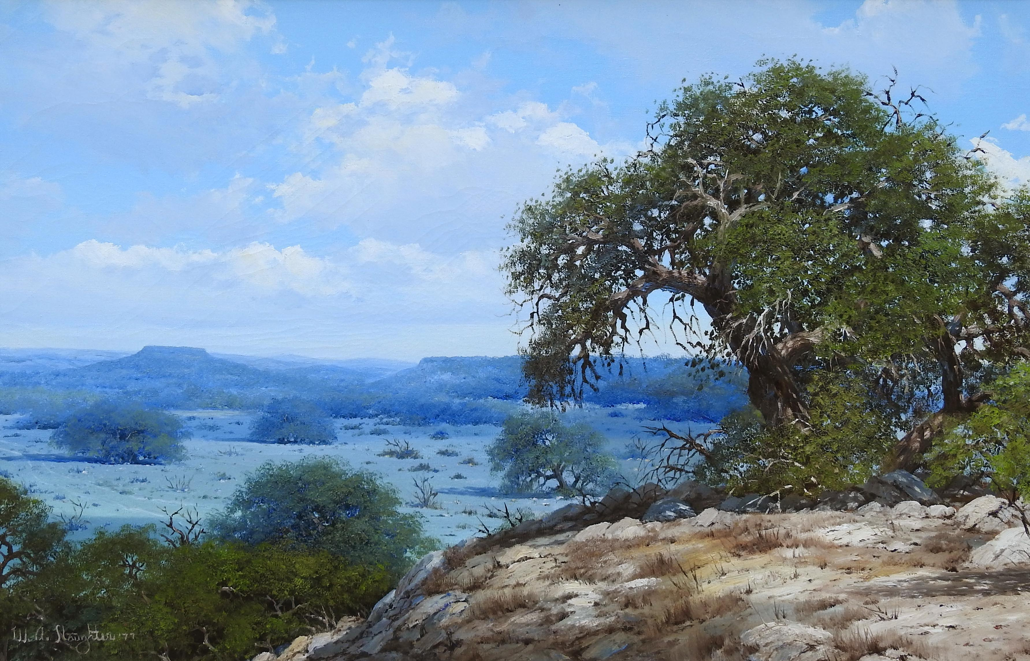 """""""Texas Landscape"""", W.A. Slaughter, Original Oil on Canvas, 24x36 in."""