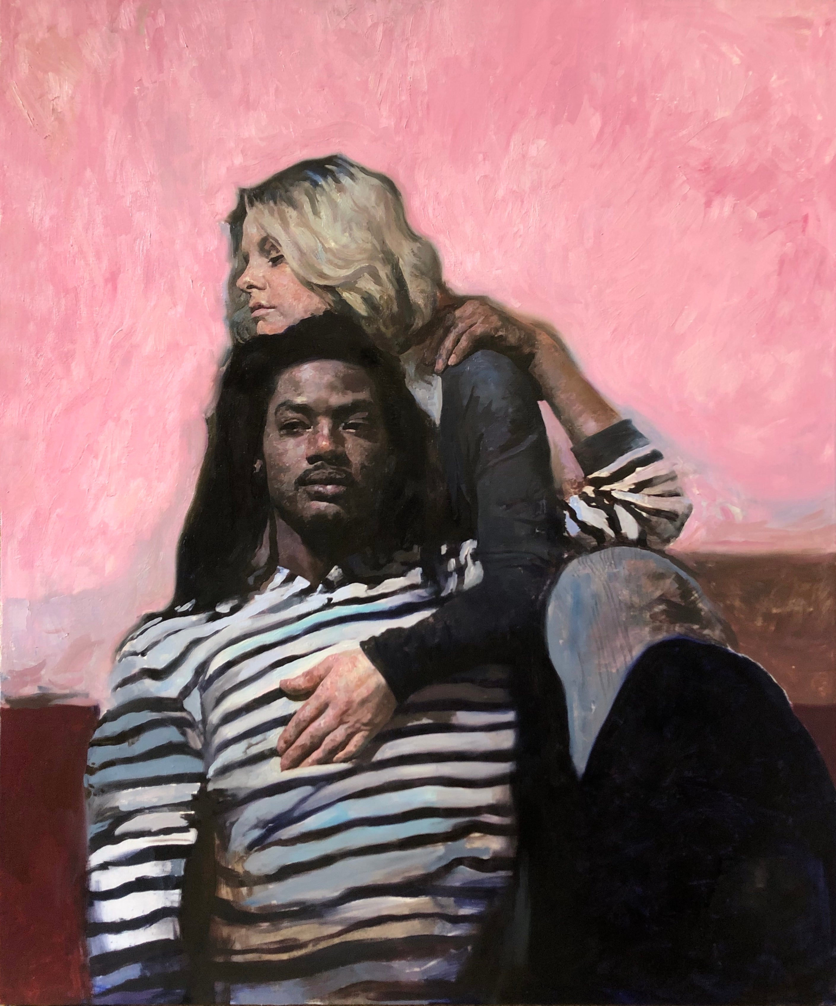 """""""Susan and Quan,"""" Oil painting"""