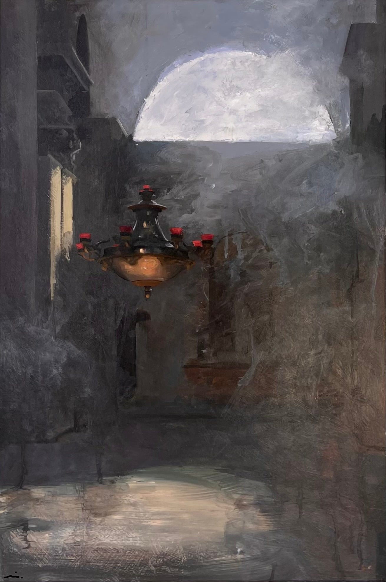 """Venetian Interior Sketch"" Oil Painting"