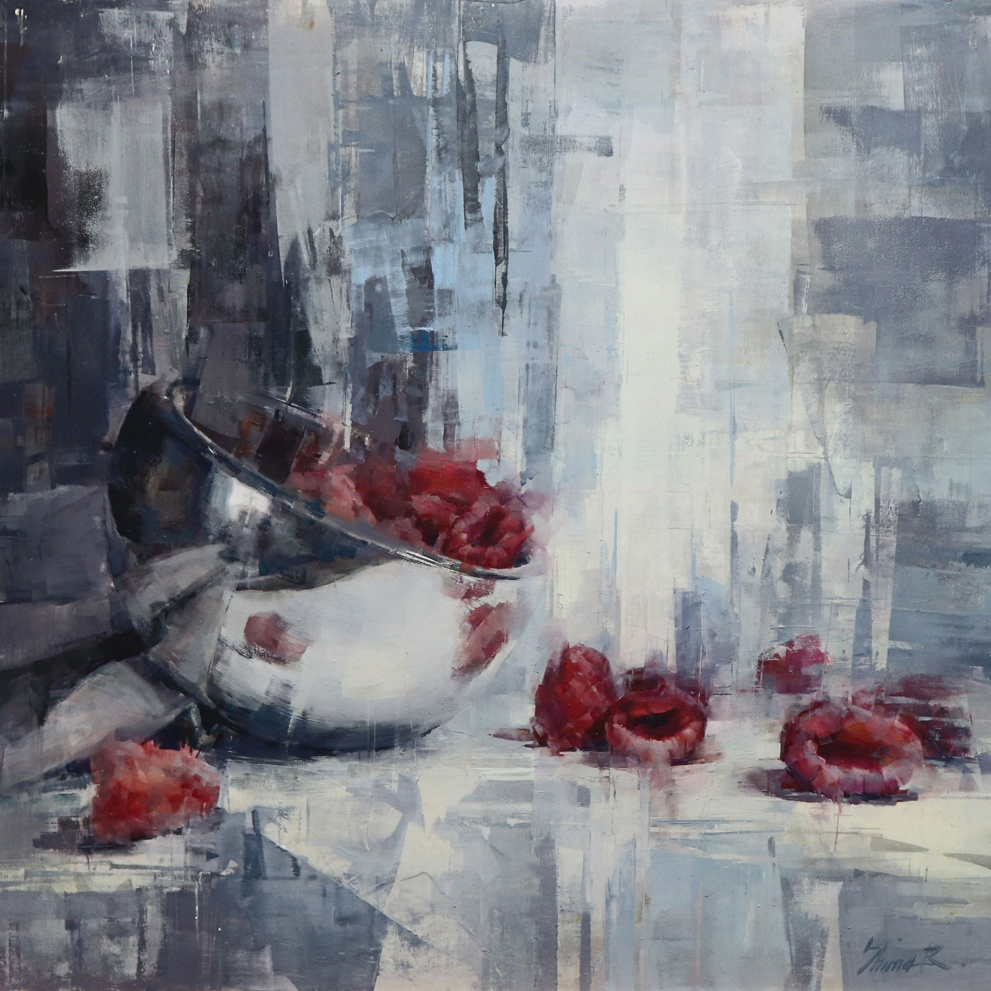 """The Raspberries,"" Oil Painting"
