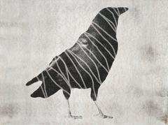 Large Crow Standing (with Stripes)