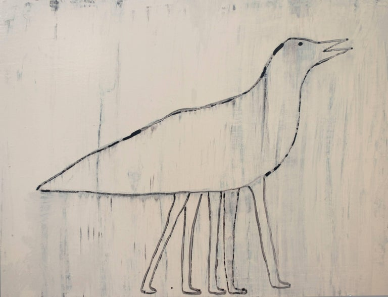 Bird with Five Legs - Mixed Media Art by Holly Roberts
