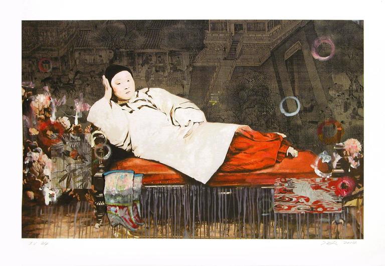 Hung Liu Figurative Print - Olympia