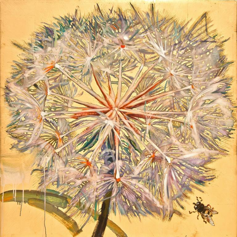 Dandelion with Bee