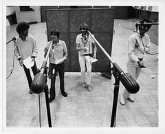 The Monkees in the recording studio, circa 1970s.