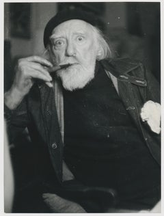 Portrait of painter Augustus John, by Allan Chappelow, England 1953.