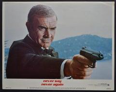 """James Bond 007 - Never say never again"" Original Lobby Card, UK 1984"