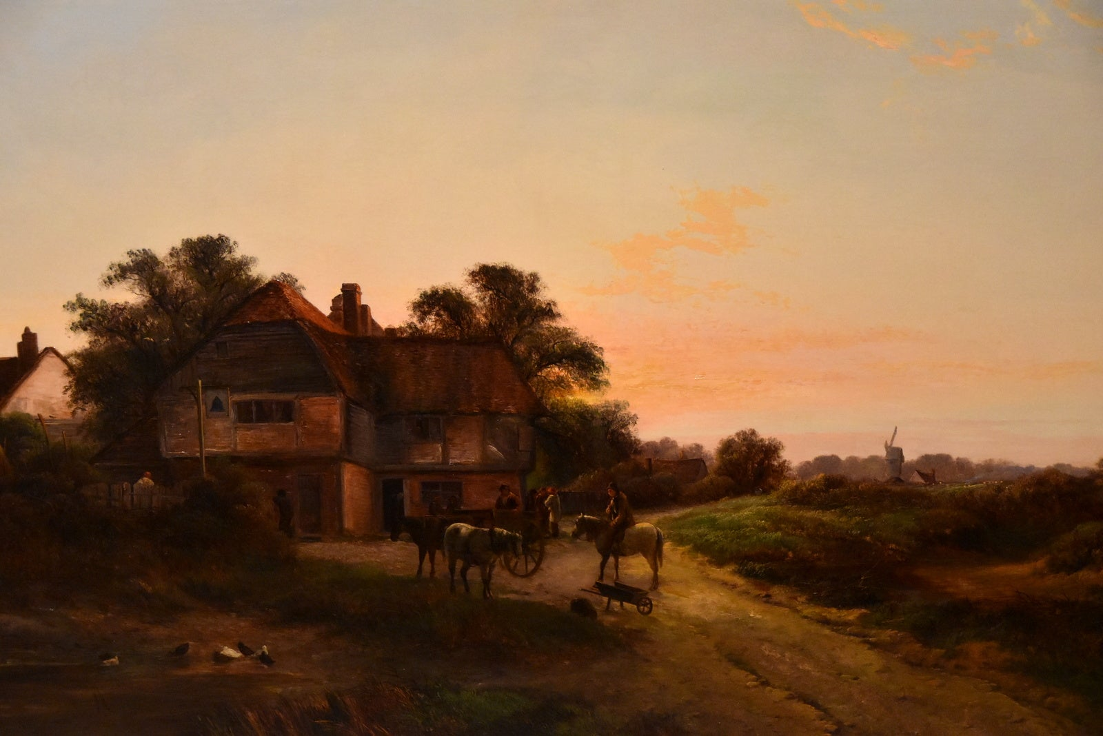 """""""Outside the Bell Inn"""" by Walter Williams"""