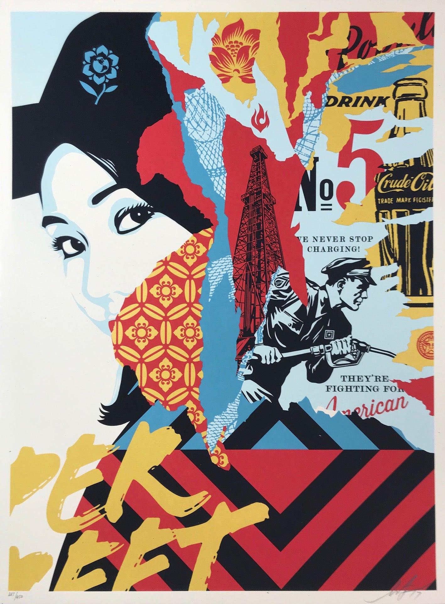 Shepard Fairey Drink Crude Oil Print Obey Giant Poster 2017 Street Art Pop Art