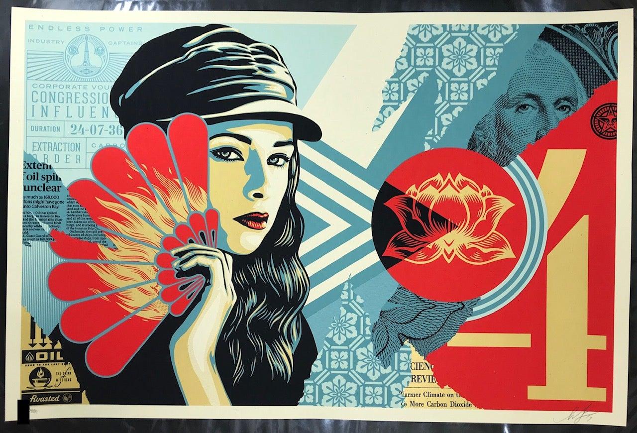 Shepard Fairey Fan The Flames Print Obey Giant Poster, 2019