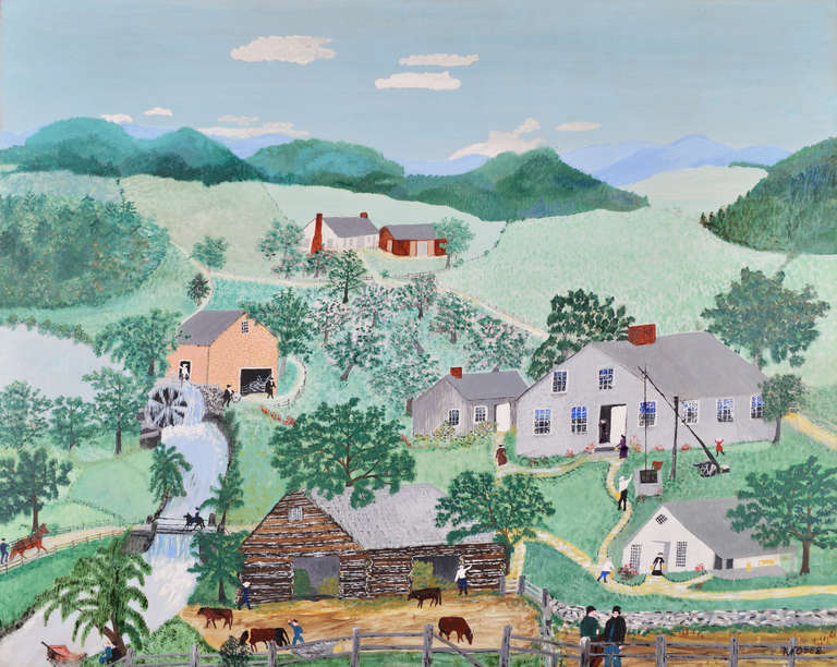 Black Grandma Moses Paintings