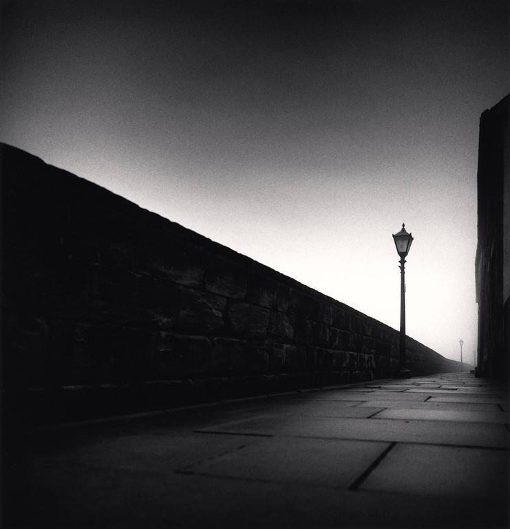 Michael Kenna Landscape Photograph - Long Wall, Berwick, Northumberland, England. 1991