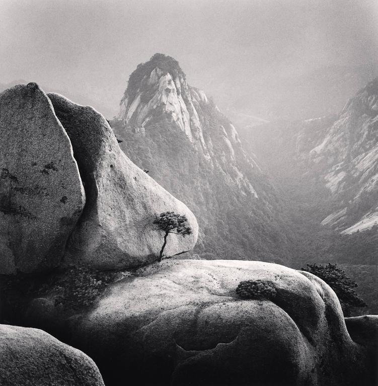 Michael Kenna Black and White Photograph - Huangshan Mountains, Study 27, Anhui, China. 2009