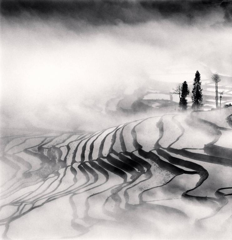 Michael Kenna Black and White Photograph - Yuanyang, Study 1, Yunnan, China. 2013