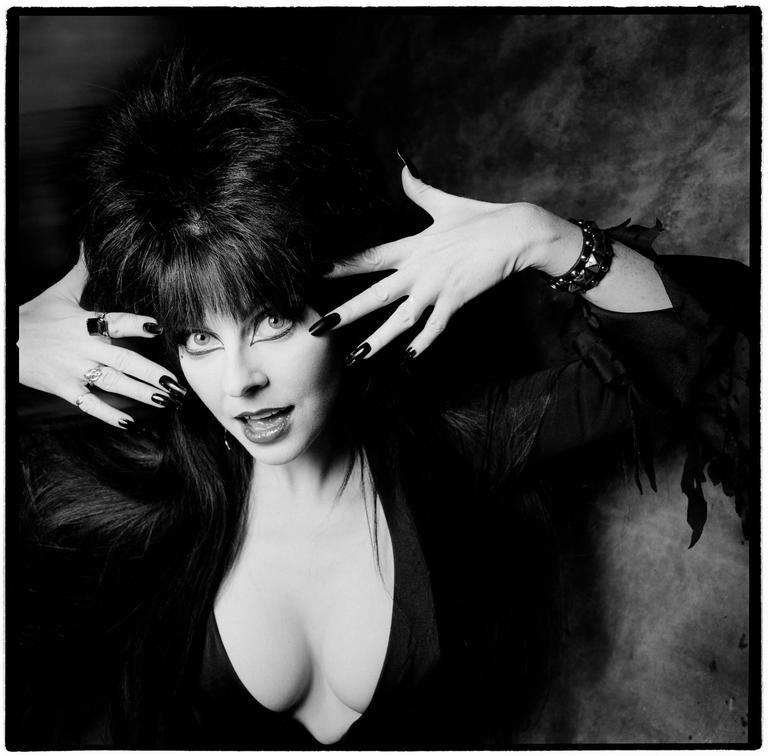 Karen Kuehn Black and White Photograph - Elvira • 1987 • NYC • Saturday Night Live