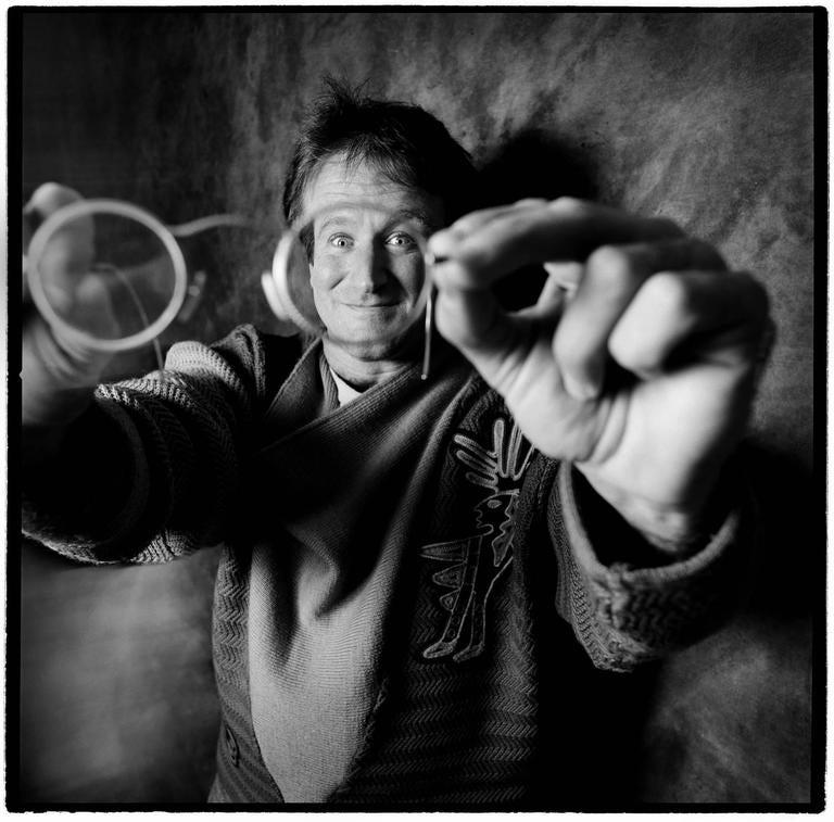 Karen Kuehn Portrait Photograph - Robin Williams • 1987 • NYC • Saturday Night Live