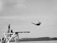 Diving off the shores of Lake Michigan, 2012