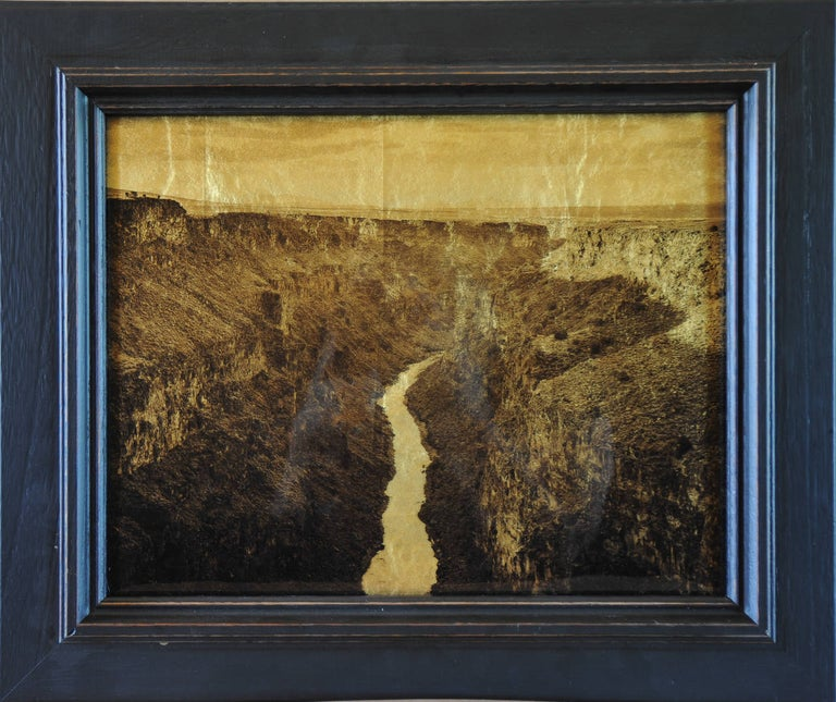 Kate Breakey Black and White Photograph - Rio Grande Gorge