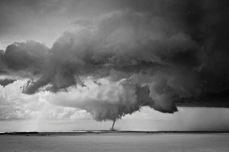 Mitch Dobrowner Black and White Photograph - Tornado Over Plains