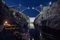 Bridge at Hoover Dam, Upstream View, May 21, 2009